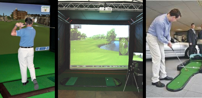 Exhibition Stand Game : Golf simulators to rent for exhibitions activations