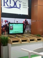 4 player horse racing game at exhibition booth