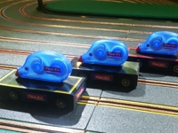 Customised and branded scalextric cars