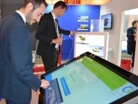 Bespoke touch screen game at exhibition