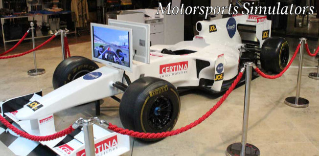 Motorsports simulators for exhibitions, trade fairs and