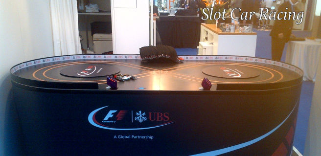 Exhibition Stand Games : Scalextric style slot car racing games for exhibitions and
